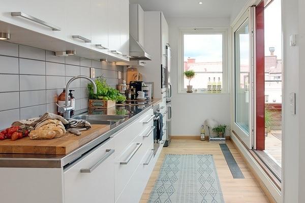 Дизайн кухни совмещённой с балконом: объединенная с лоджией,.