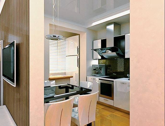 Дизайн кухни совмещённой с комнатой