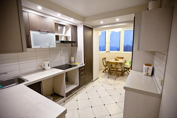 Кухни объединенные с балконами дизайн