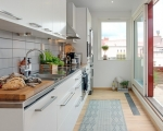 Дизайн кухни объединенной с балконом-1
