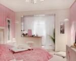 Совмещенная спальня с лоджией