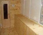 Обшивка вагонкой балкона-1