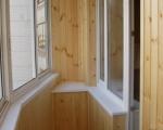 Обшивка вагонкой балкона-3