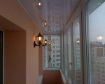 натяжной потолок на балконе-2