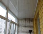 натяжные потолки на лоджии-4