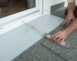 Монтаж винилового покрытия на лоджии