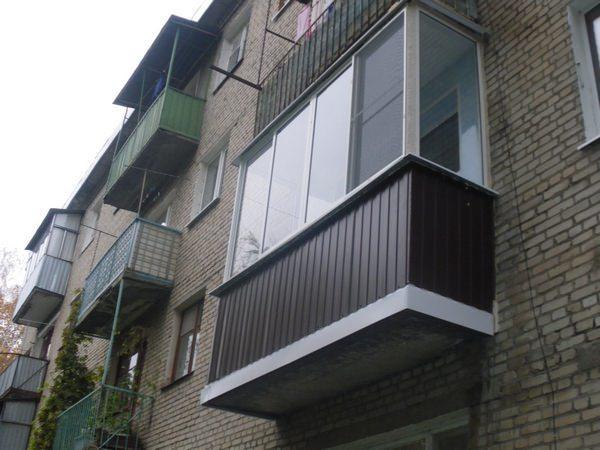 Обшивка балконов снаружи своими руками