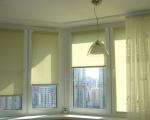Рулонные шторы в интерьере-1
