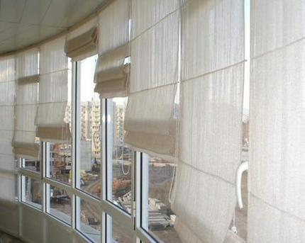 Как сшить римские шторы своими руками фото