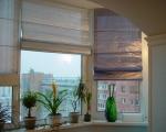 Римские шторы на балкон-8