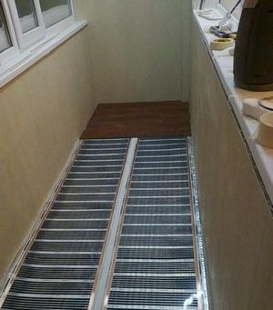 инфракрасный теплый пол на балконе