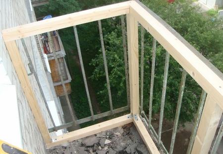 обрешетка балкона