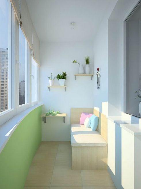 как оборудовать балкон внутри фото