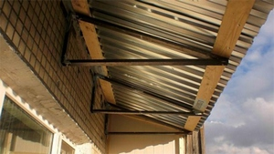 Как сделать крышу балкона последнего этажа своими руками 779