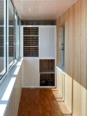 встроенный шкаф на лоджии