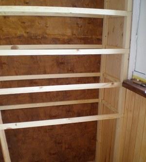 каркас для шкафа на балкон