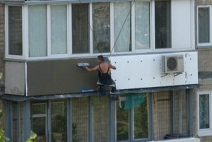 утепление балкона пенопластом снаружи
