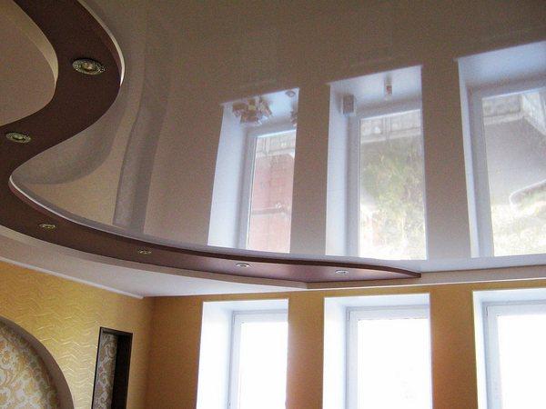 потолок комбинированный натяжной гипсокартон