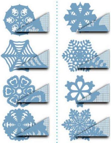 снежинки из бумаги