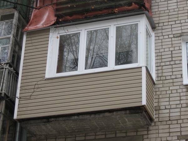 наружняя отделка балкона
