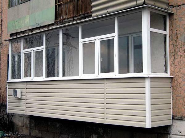 сайдинг балкон