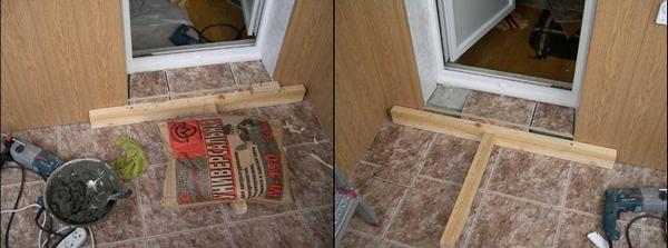 как установить порог на балкон