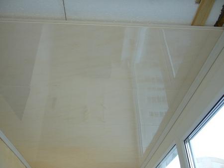 как утеплить потолок балкона