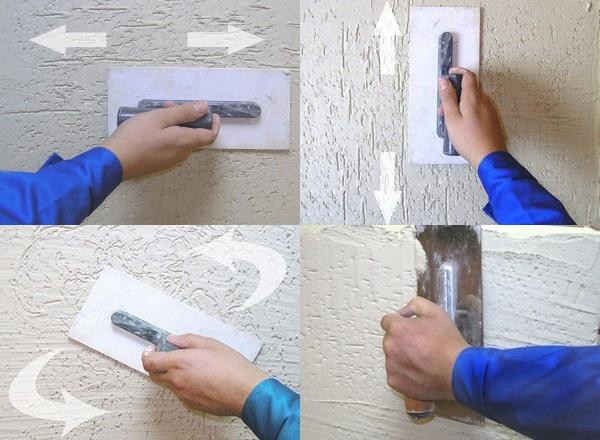 декоративная штукатурка короед своими руками технология нанесения
