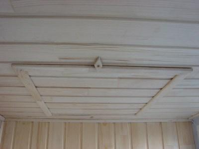 как сделать люк на балконе