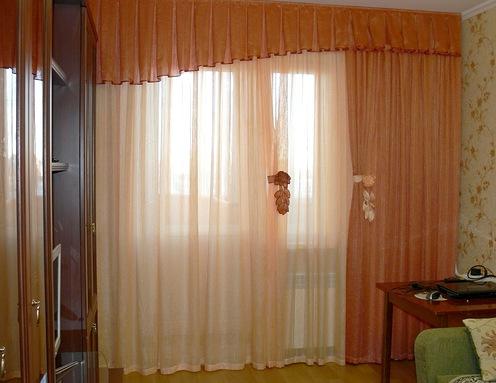 тюлевые занавески в гостиной