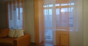 шторы на окно с балконной дверью
