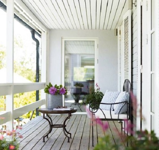 Балкон в стиле прованс: особенности дизайна лоджии, фото.