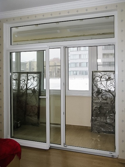 французская дверь на балкон