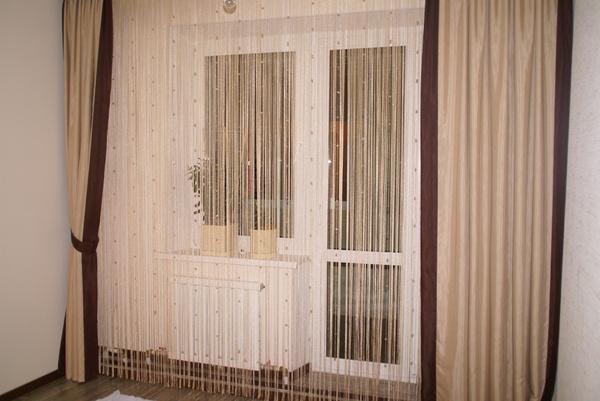 шторы выход на балкон