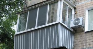 обшить балкон снаружи профнастилом