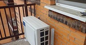 как установить кондиционер на балконе