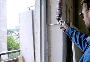 как установить балконный блок своими руками