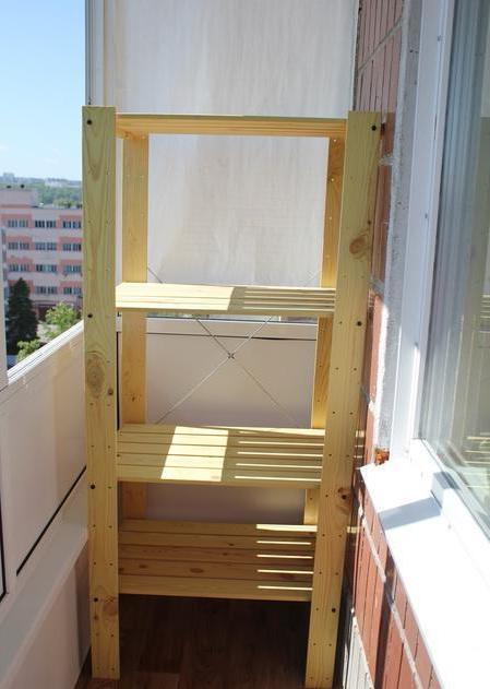 Купить большой недорогой стеллаж для балкона.
