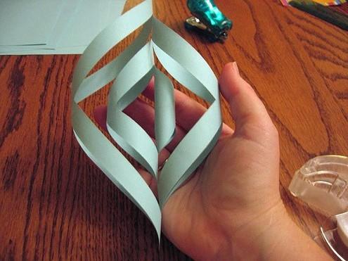 киригами снежинки