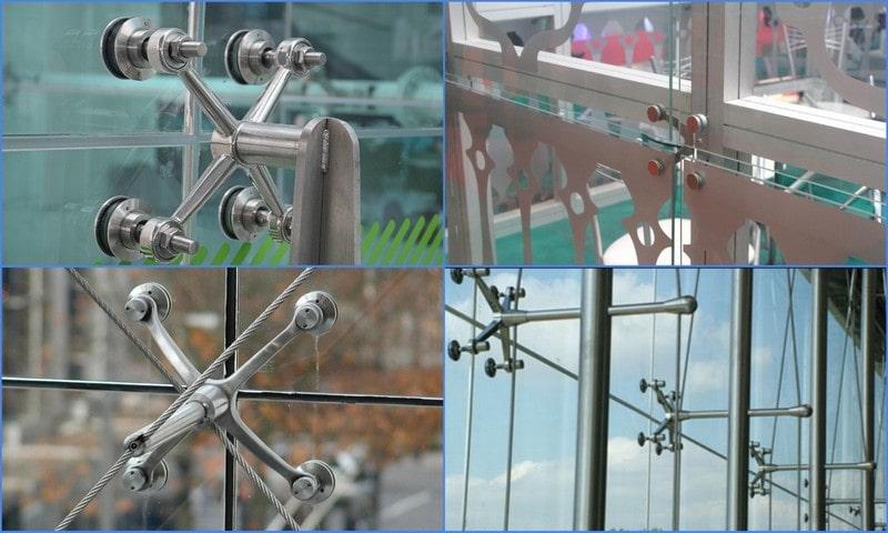 спайдерная система крепежа стекол