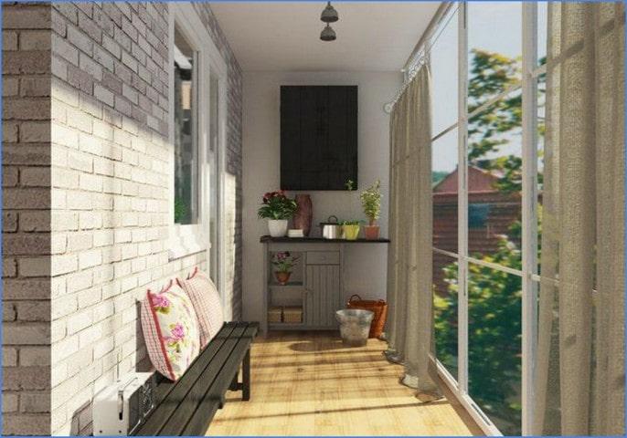 балкон загородного дома