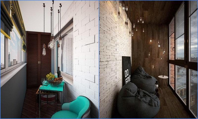 балконные светильники loft style