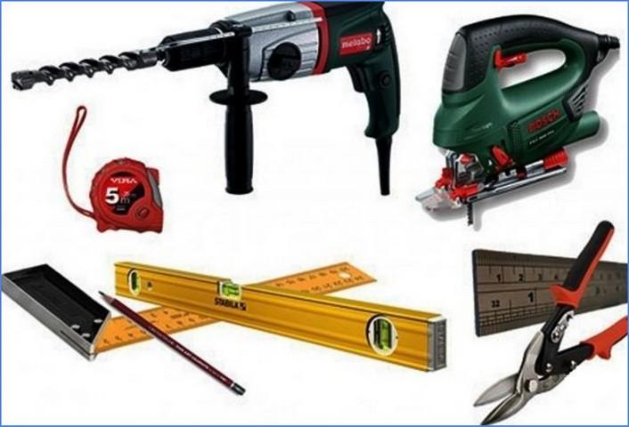 инструменты для обрешетки на лоджии